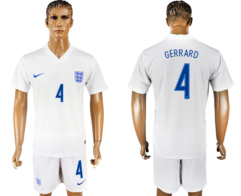 Men 2018 World Cup England home 4 white soccer jersey