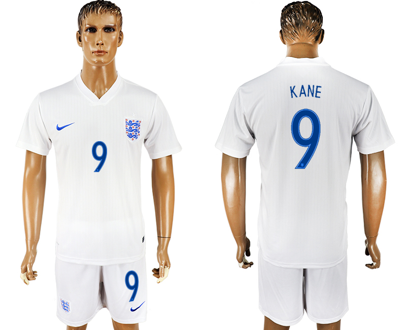 Men 2018 World Cup England home 9 white soccer jersey