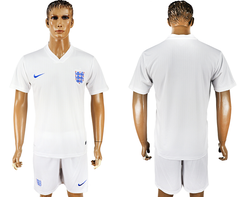 Men 2018 World Cup England home blank white soccer jersey