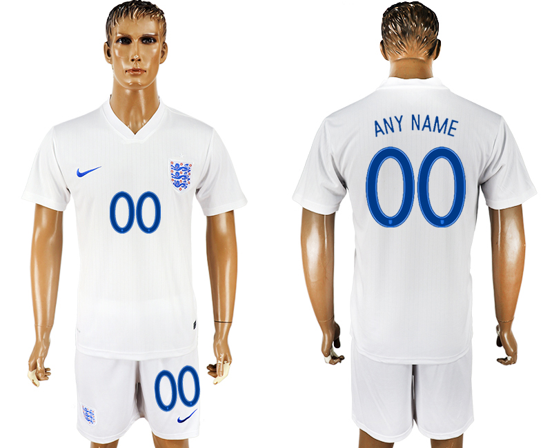 Men 2018 World Cup England home customized white soccer jersey