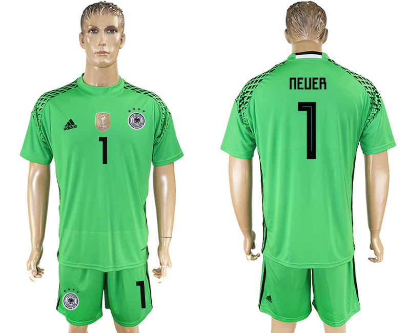 Men 2018 World Cup Germany green goalkeeper 1 soccer jersey