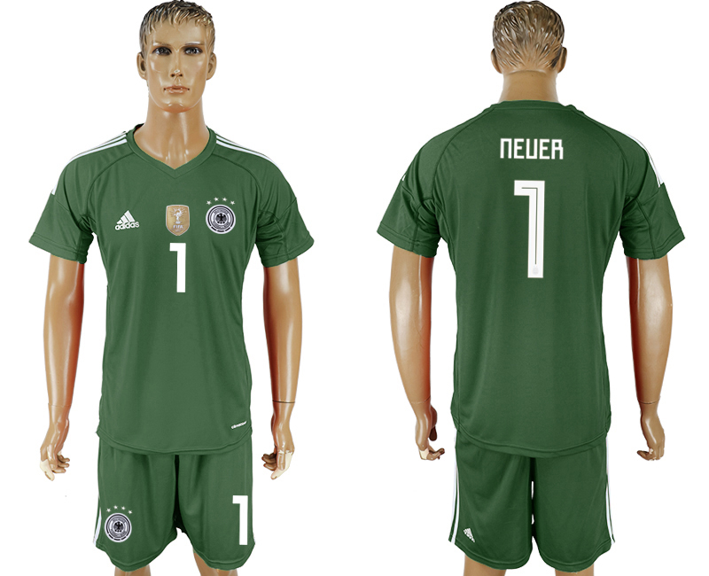 Men 2018 World Cup Germany green goalkeeper 1 soccer jersey1