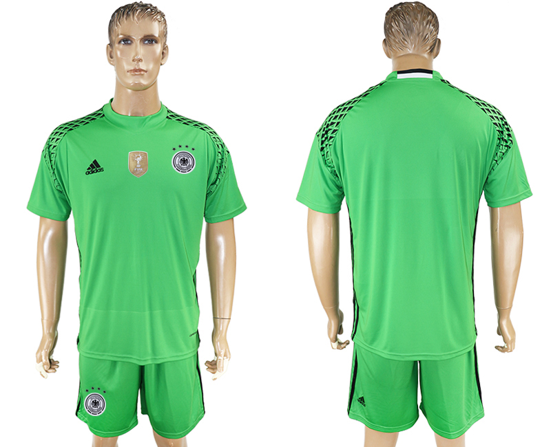 Men 2018 World Cup Germany green goalkeeper blank soccer jersey