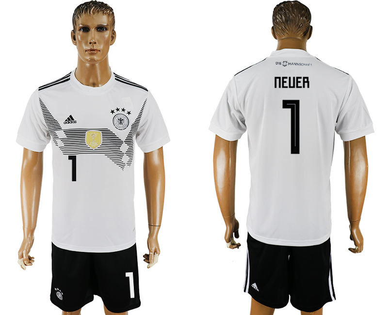 Men 2018 World Cup Germany home 1 white soccer jersey