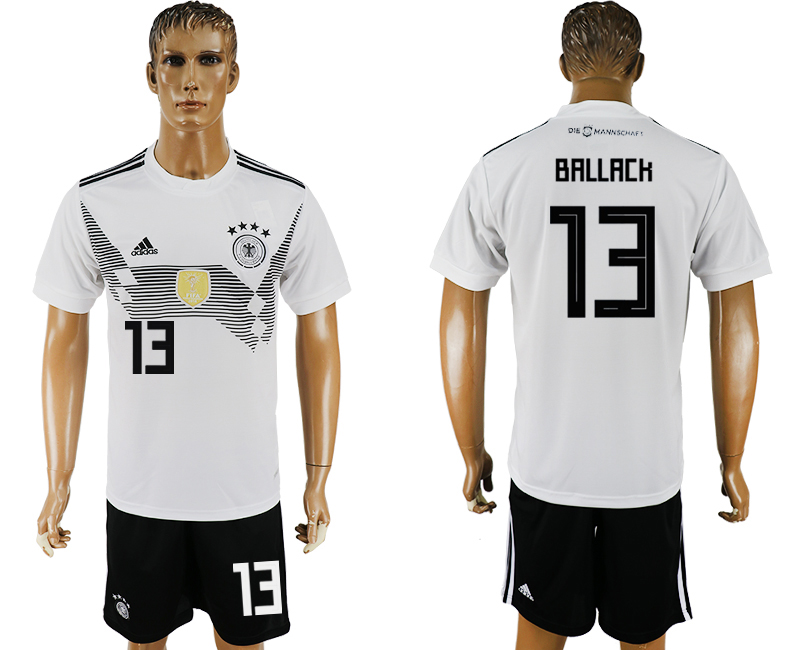 Men 2018 World Cup Germany home 13 white soccer jersey