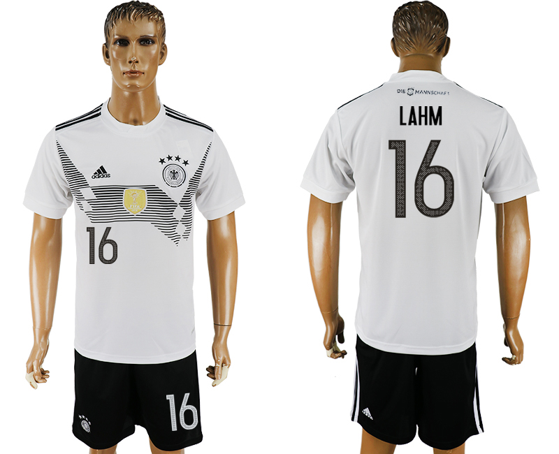 Men 2018 World Cup Germany home 16 white soccer jersey