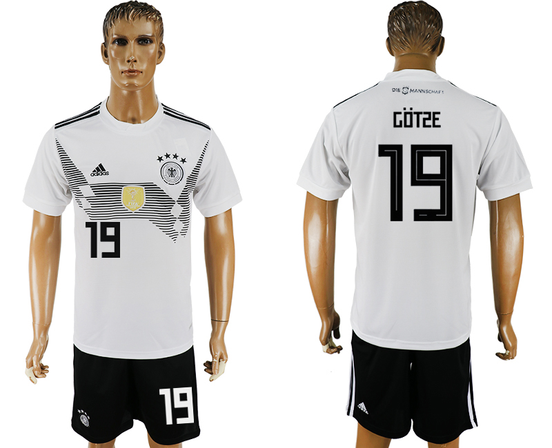 Men 2018 World Cup Germany home 19 white soccer jersey