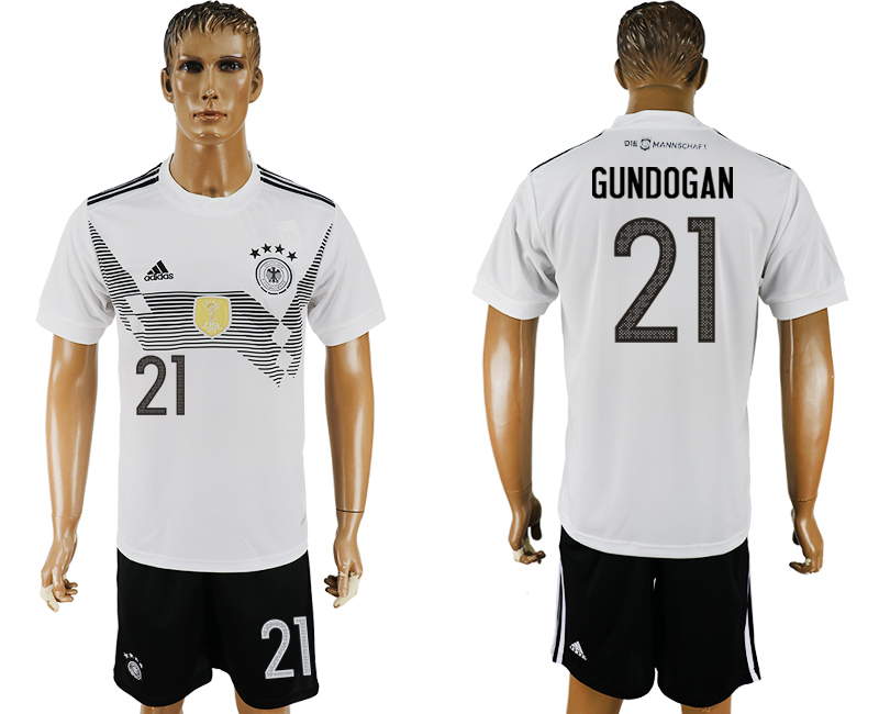 Men 2018 World Cup Germany home 21 white soccer jersey