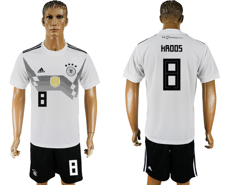 Men 2018 World Cup Germany home 8 white soccer jersey