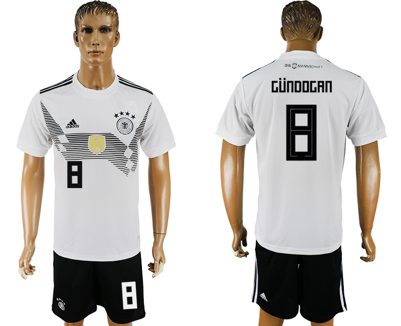Men 2018 World Cup Germany home 8 white soccer jersey1