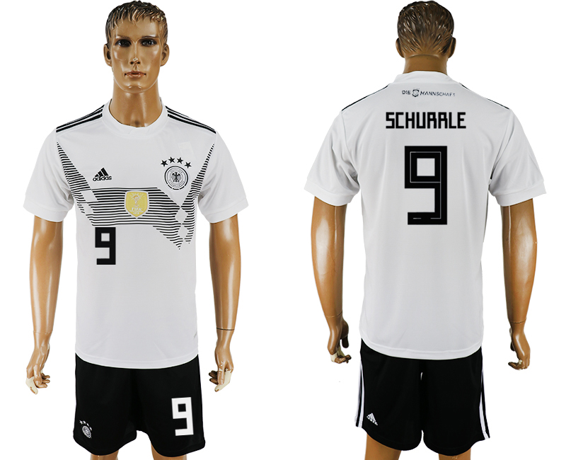 Men 2018 World Cup Germany home 9 white soccer jersey
