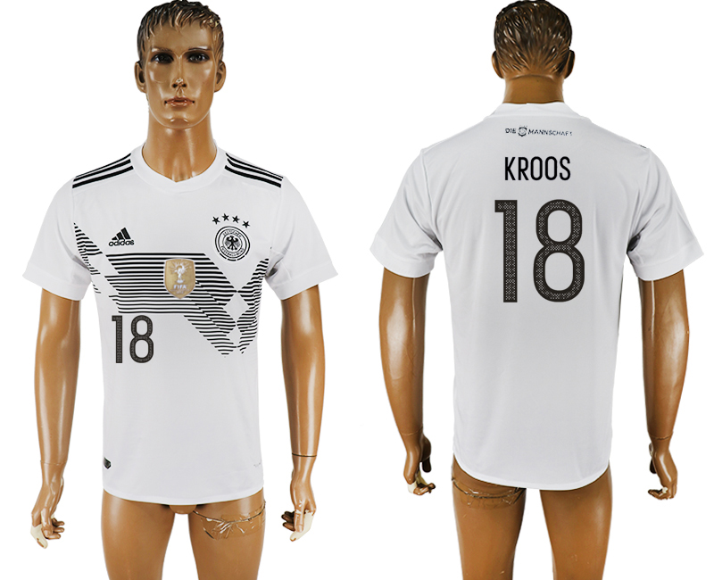 Men 2018 World Cup Germany home aaa version 18 white soccer jersey