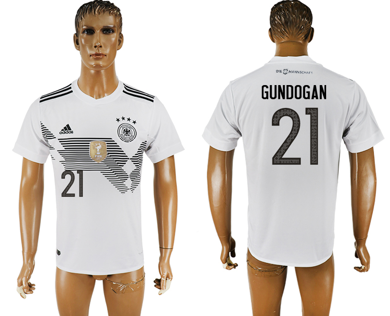 Men 2018 World Cup Germany home aaa version 21 white soccer jersey