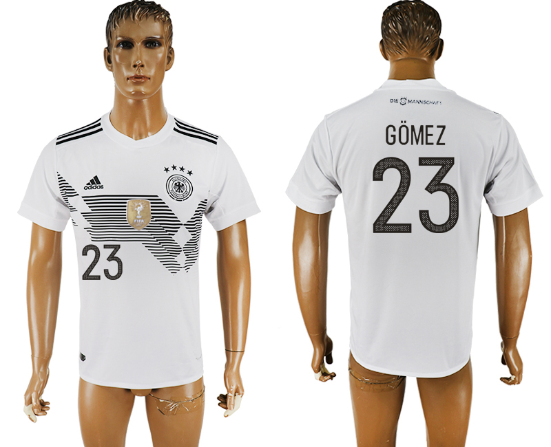 Men 2018 World Cup Germany home aaa version 23 white soccer jersey
