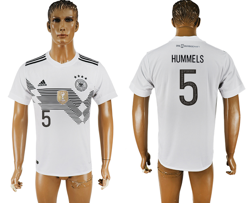 Men 2018 World Cup Germany home aaa version 5 white soccer jersey