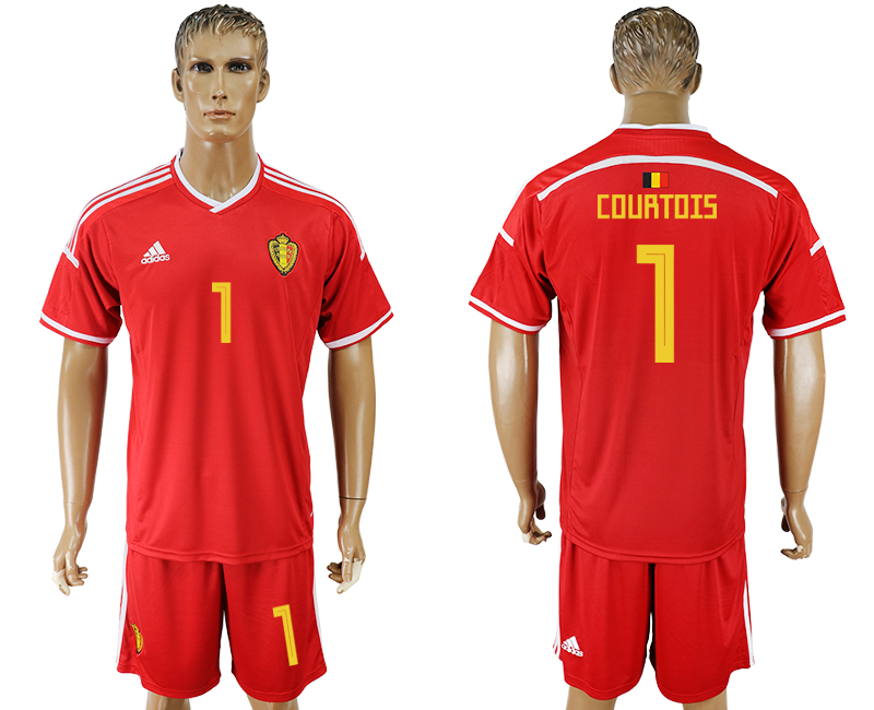 Men 2018 World Cup National Belgium home 1 red soccer jersey