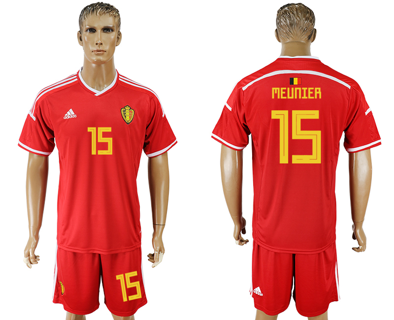 Men 2018 World Cup National Belgium home 15 red soccer jersey