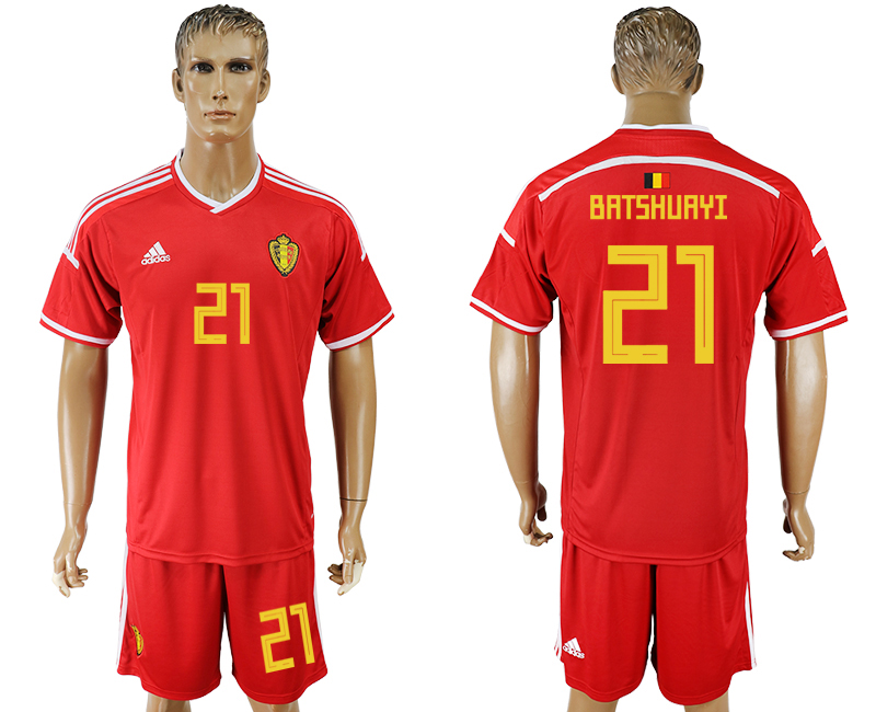 Men 2018 World Cup National Belgium home 21 red soccer jersey