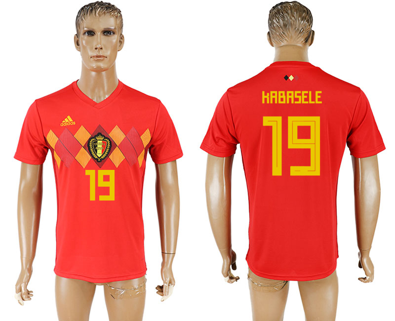 Men 2018 World Cup National Belgium home aaa version 19 red soccer jersey