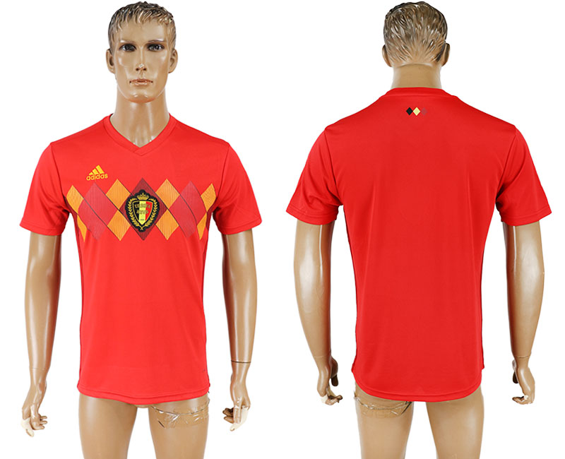 Men 2018 World Cup National Belgium home aaa version blank red soccer jersey