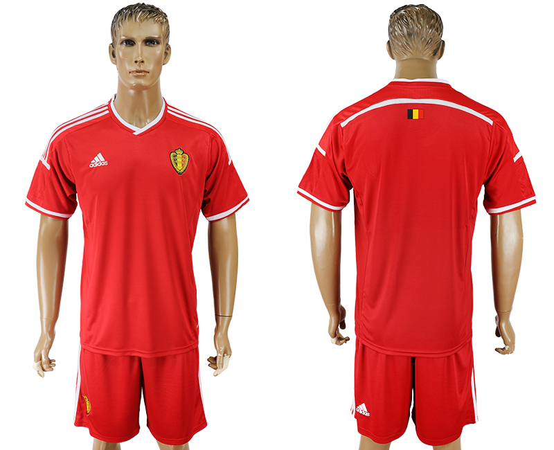Men 2018 World Cup National Belgium home blank red soccer jersey