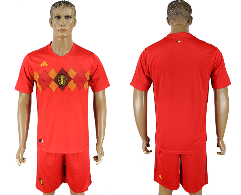 Men 2018 World Cup National Belgium home red soccer jersey