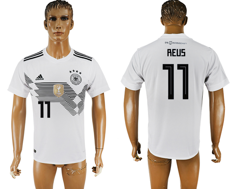 Men 2018 World Cup National Germany home aaa version 11 white soccer jersey