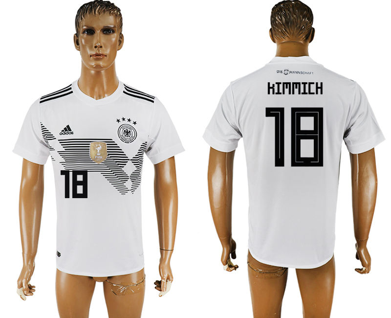 Men 2018 World Cup National Germany home aaa version 18 white soccer jersey