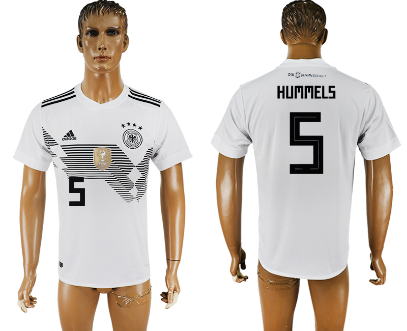 Men 2018 World Cup National Germany home aaa version 5 white soccer jersey