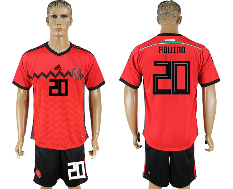 Men 2018 World Cup National Mexico away 20 red soccer jersey