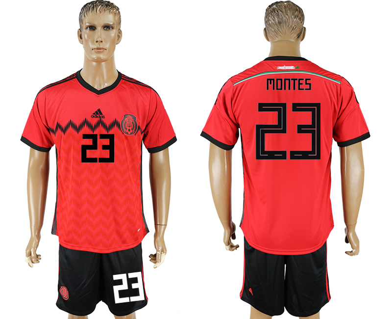 Men 2018 World Cup National Mexico away 23 red soccer jersey