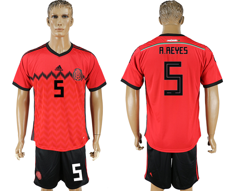 Men 2018 World Cup National Mexico away 5 red soccer jersey