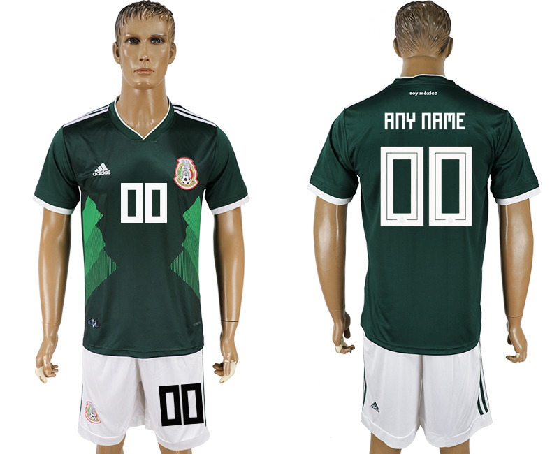 Men 2018 World Cup National Mexico home customized green soccer jersey
