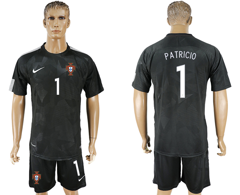 Men 2018 World Cup National Portuga away 1 black soccer jersey