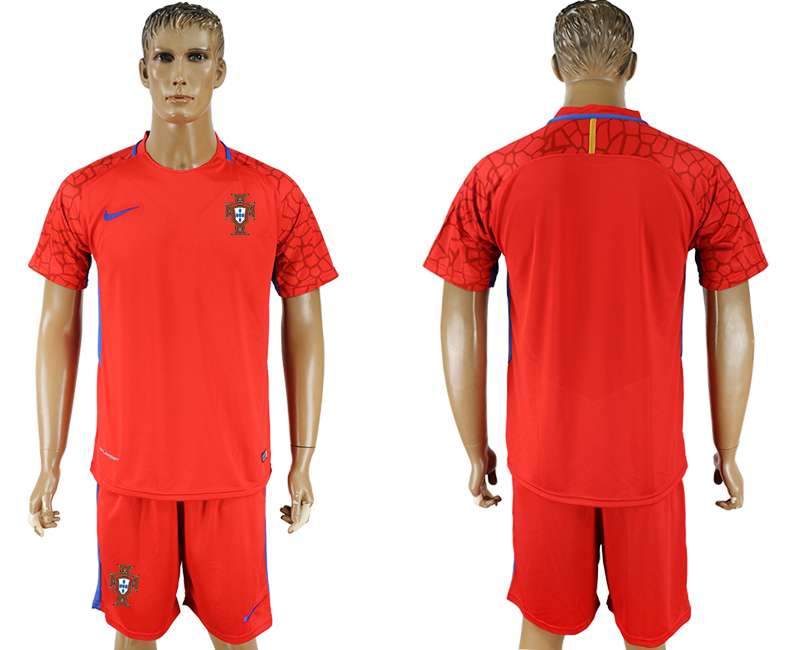 Men 2018 World Cup National Portugal red goalkeeper blank soccer jersey