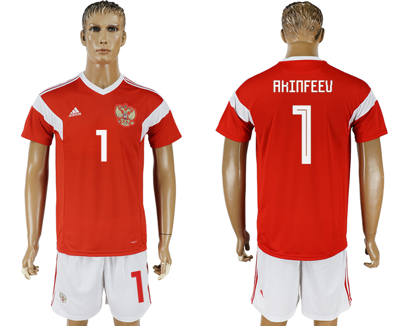Men 2018 World Cup National Russia home 1 red soccer jersey
