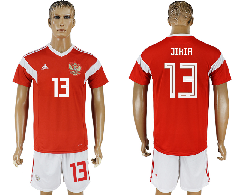 Men 2018 World Cup National Russia home 13 red soccer jersey