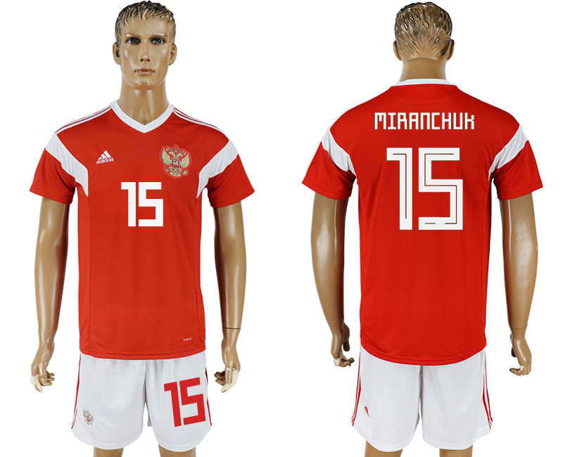 Men 2018 World Cup National Russia home 15 red soccer jersey