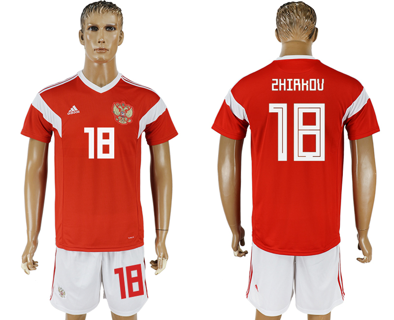 Men 2018 World Cup National Russia home 18 red soccer jersey