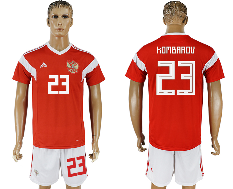 Men 2018 World Cup National Russia home 23 red soccer jersey