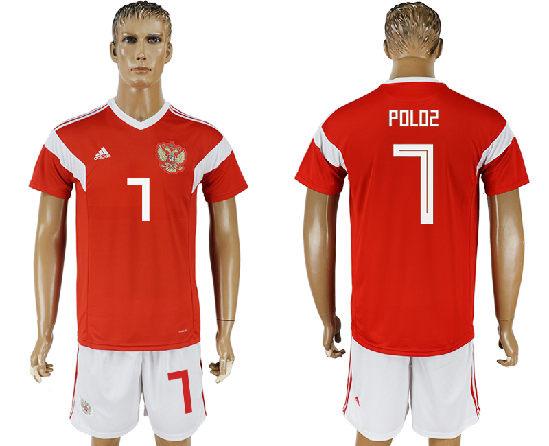 Men 2018 World Cup National Russia home 7 red soccer jersey