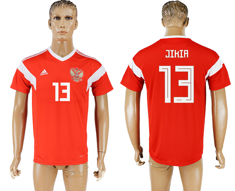 Men 2018 World Cup National Russia home aaa version 13 red soccer jersey