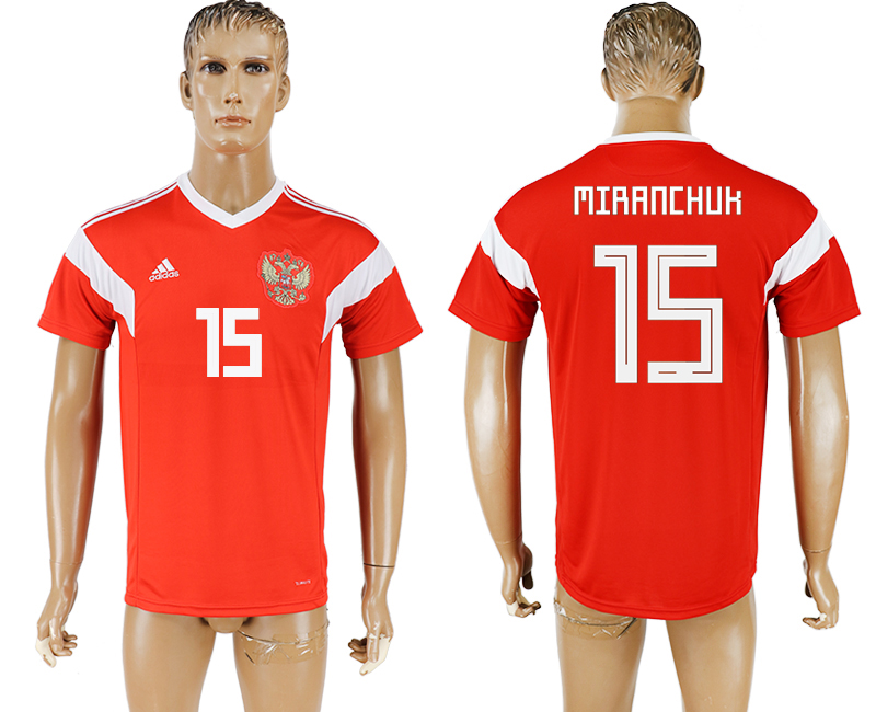 Men 2018 World Cup National Russia home aaa version 15 red soccer jersey