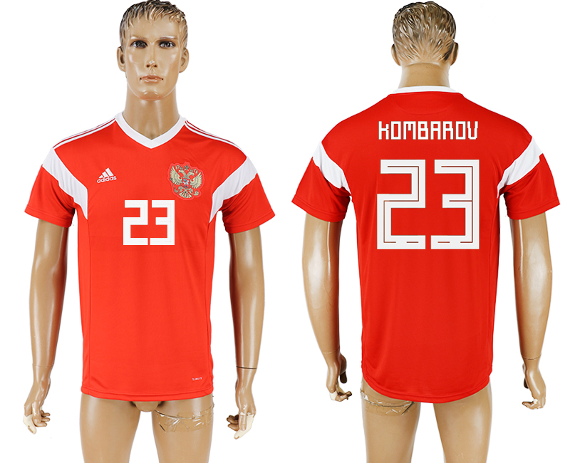 Men 2018 World Cup National Russia home aaa version 23 red soccer jersey