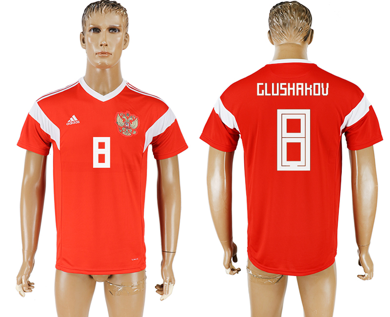 Men 2018 World Cup National Russia home aaa version 8 red soccer jersey