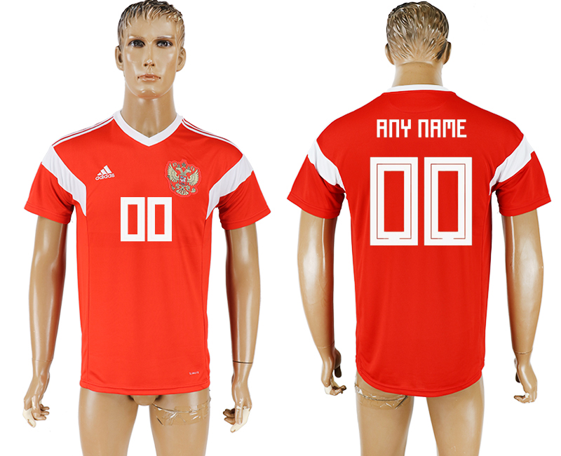 Men 2018 World Cup National Russia home aaa version customized red soccer jersey