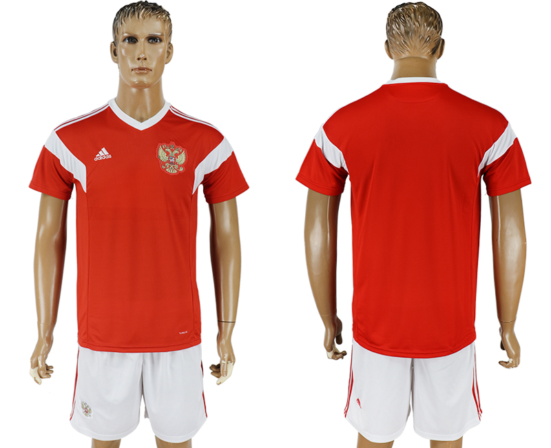 Men 2018 World Cup National Russia home red soccer jersey