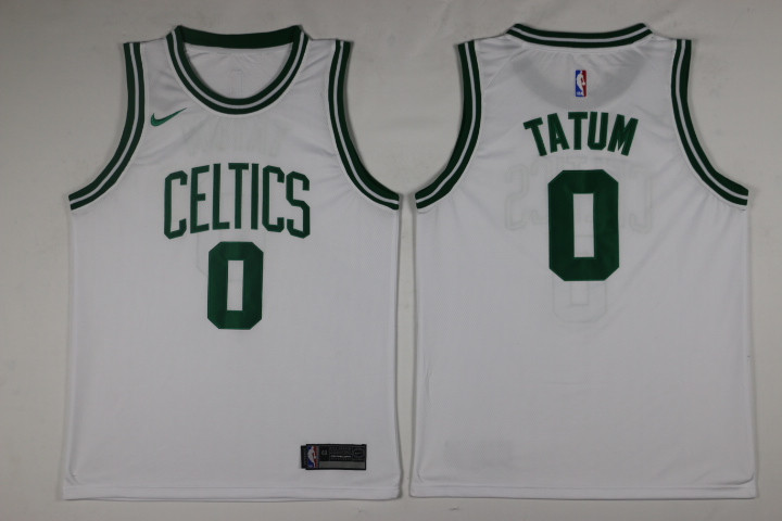Men Boston Celtics 0 Tatum White Game Nike NBA Jerseys