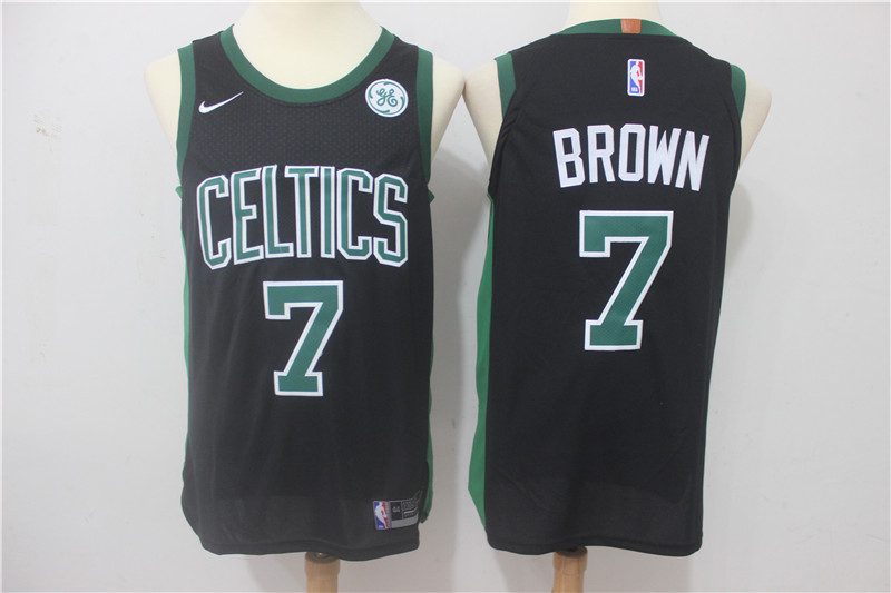 Men Boston Celtics 7 Brown Black Game Nike NBA Jerseys