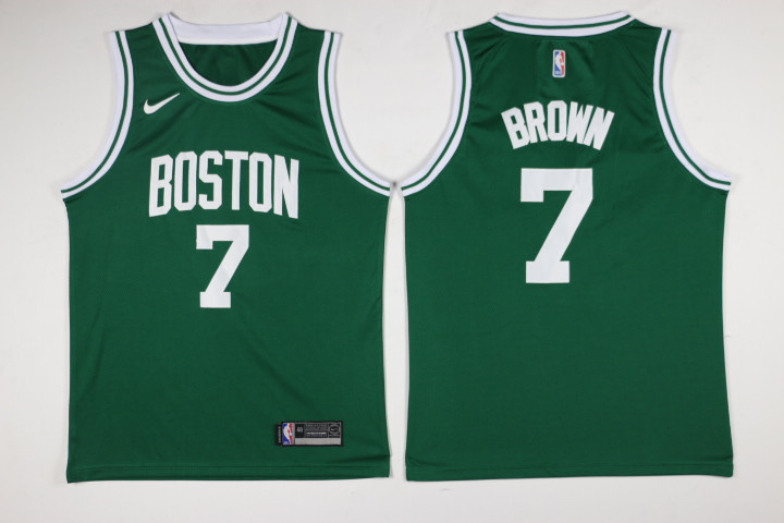 Men Boston Celtics 7 Brown Green Game Nike NBA Jerseys
